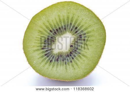 Sliced Kiwifruit On White Background