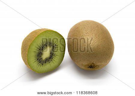Kiwifruits On White Background