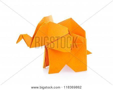 Orange Elephant Of Origami