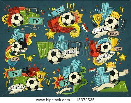 Football sports elements