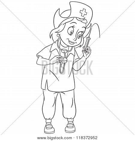 Cute Cartoon Nurse