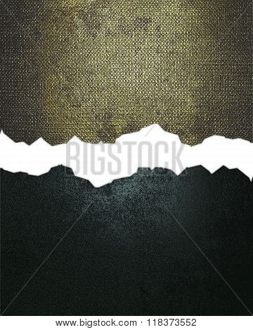 Grunge Blue And Gold Metallic Texture With Crack. Element For Design. Template For Design. Copy Spac