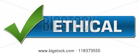 Ethical Blue With Green Tickmark
