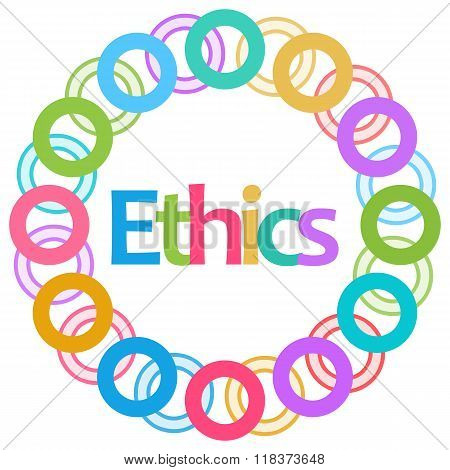Ethics Colorful Rings Circular