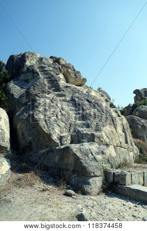 The historical complex Perperikon in Bulgaria