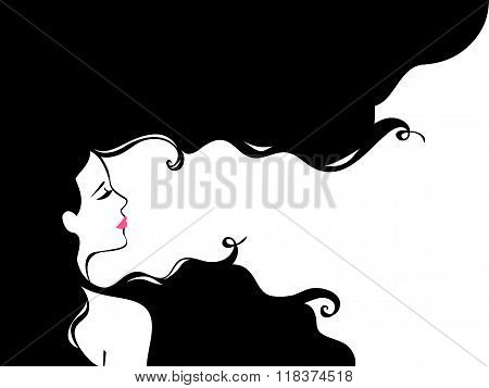 Fashion Woman with Long Hair