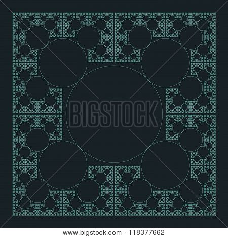 Circle Sacral Geometry Fractal Structure Background.