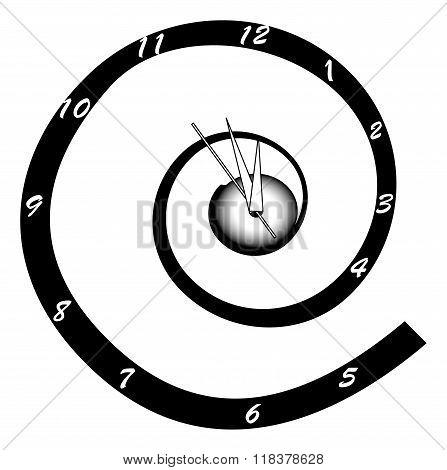 Helical Wall Clock