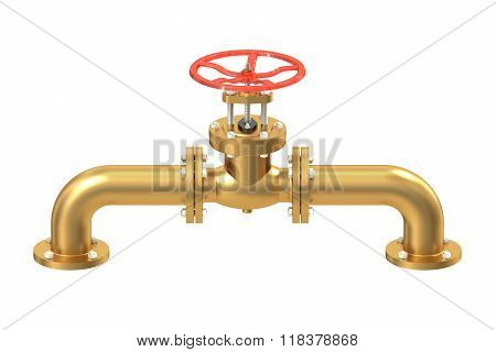 Copper Pipeline With Valve