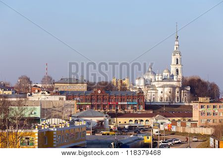Assumption Cathedral, Trinity Cathedral and Belfry in Kineshma.