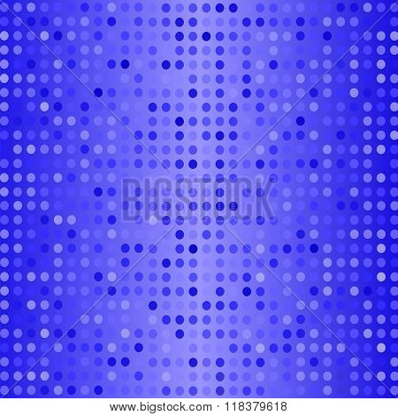 Dots on Blue Background. Halftone Texture.