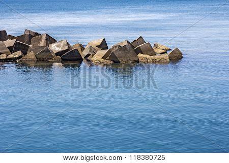 Sea Concrete Block Dam
