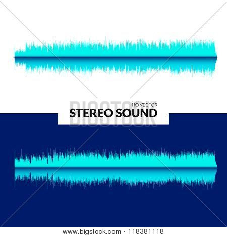 HQ Vector sound waves. Music waveform background. You can use in club, radio, pub, DJ show, party, c