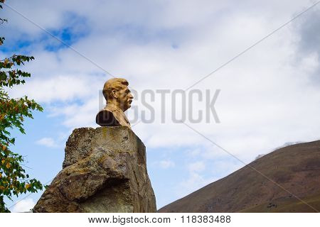 Norht Ossetia, Russia - Oct 4 2015: Statue To Joseph Stalin On October 4, 2015. Stalin Was The Ussr