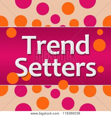 Trend Setters Pink Orange Dots Background