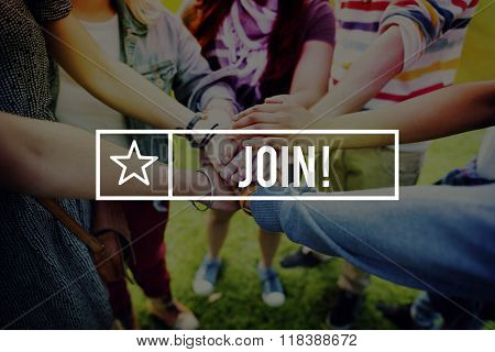 Join Hiring Recruitment Membership Recruit Concept