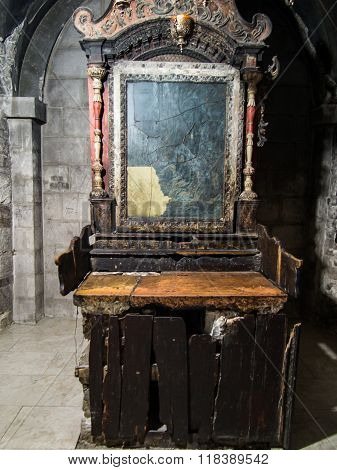Jerusalem, Israel - July 13, 2015: One Of The Side Chapels In The Basilica Of The Holy Sepulchre