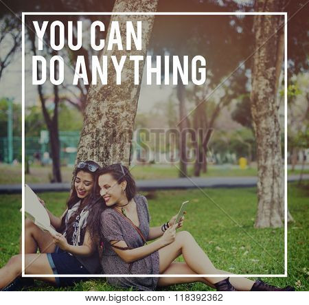 You Can Do Anything Young People Concept