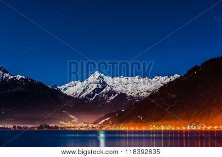 Mountains ski resort Zell am See Austria.
