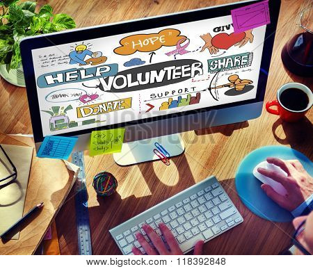 Volunteer Voluntary Volunteering Assist Charity Concept