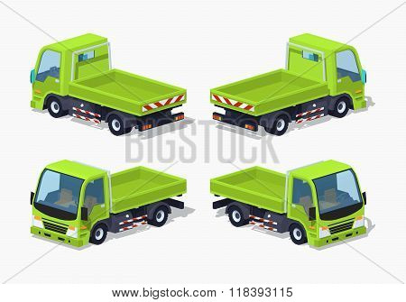 Empty green truck