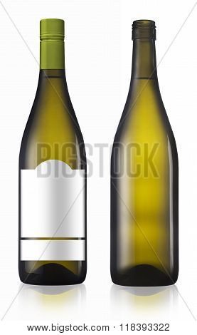 Chardonnay Burgundy White Wine Bottle