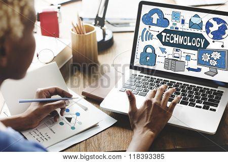 Technology Innovation Digital Evolution Concept