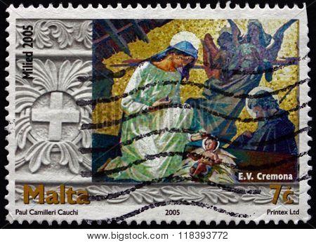 Postage Stamp Malta 2005 Nativity, By Emvin Cremona