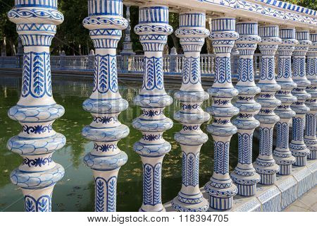 Tilework At Spanish Square In Sevilla, The Plaza De España, Spain