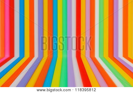Multi Color Flexible Straws With  Empty