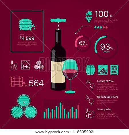 color wine infographic