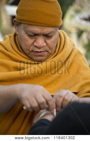 Thai Monk blessing