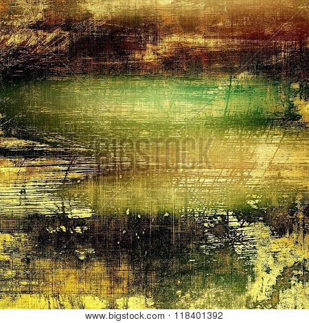 Old antique texture or background. With different color patterns: yellow (beige); brown; green; black