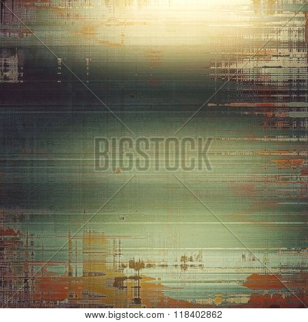 Grunge aging texture, art background. With different color patterns: yellow (beige); brown; green; gray; red (orange)