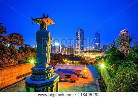 Bongeunsa Temple In Seoul, Korea.