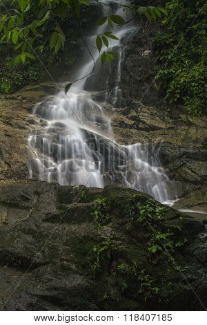 lime stone water fall in kanching water fall national park Selangor ,alaysia