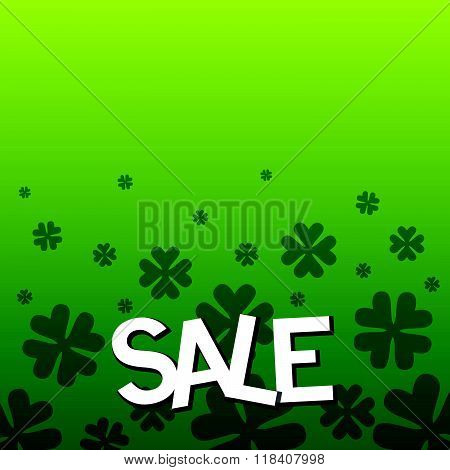 Sale Text As Saint Patrick's Day Sale Badge, Tag And Icon.