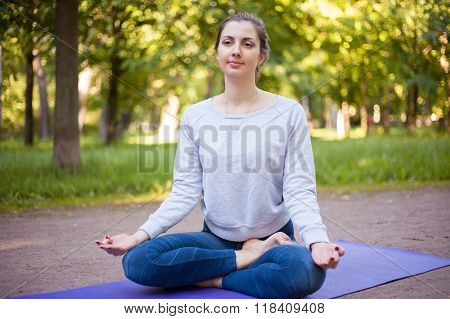 Ardha Padmasana Yoga Pose