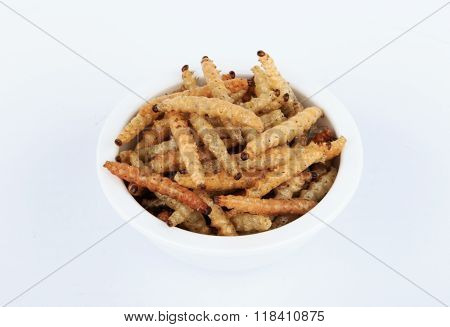 Thai Insects, Fried insects mealworms for snack