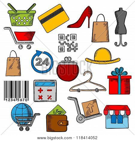 Shopping,retail and commerce icons