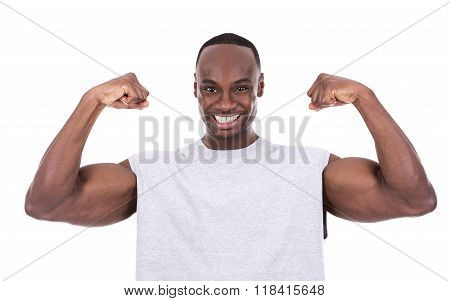 Fitness Man On White Background