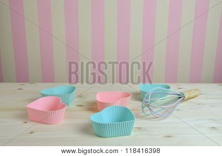Muffin Liners On Kitchen Table