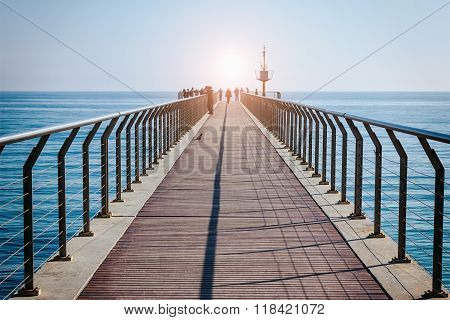 Bridge Oil- Gangway Over The Sea