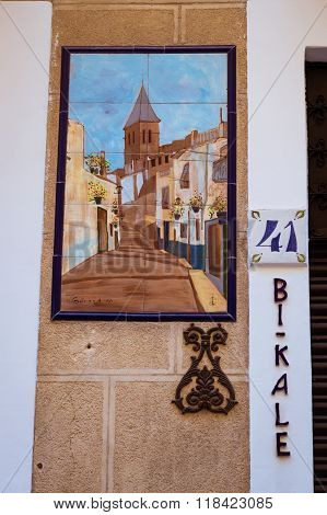 Murals On Walls Of Popular Tourist Streets, Alicante, Valencia, Spain