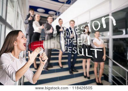Businesspeople showing sign of okay
