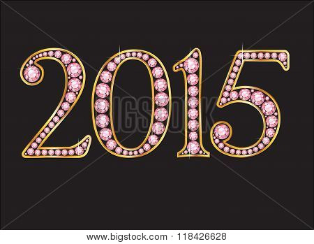 2015 Amethyst Jeweled Font With Gold Channels