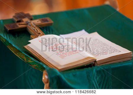 Prayer Book. Ceremony In The Orthodox Christian Church. Russia.