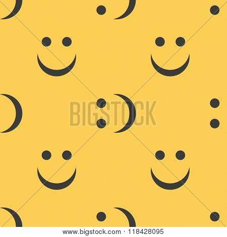 Smiley face seamless pattern background.