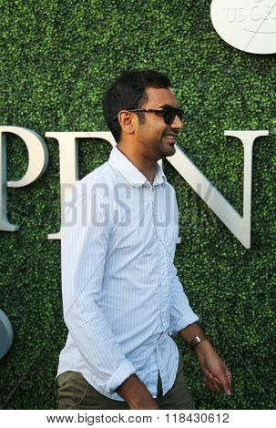 Comedian Aziz Ansari attends US Open 2015 tennis match