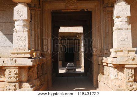 doors in ancient temples of Hampi
